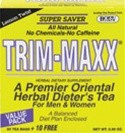 Trim-Maxx Tea Lemon 70 ct